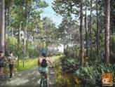 A rendering shows plans for a park favored by residents.